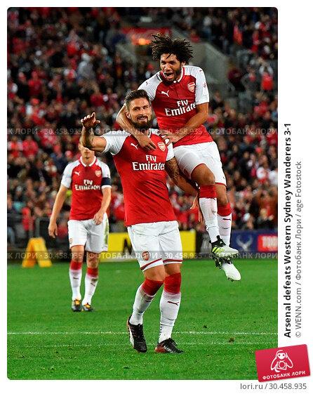Arsenal defeats Western Sydney Wanderers 3-1 (2017 год). Редакционное фото, фотограф WENN.com / age Fotostock / Фотобанк Лори