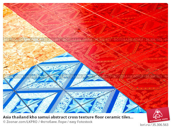 Asia thailand kho samui abstract cross texture floor ceramic tiles... Стоковое фото, фотограф Zoonar.com/LKPRO / easy Fotostock / Фотобанк Лори