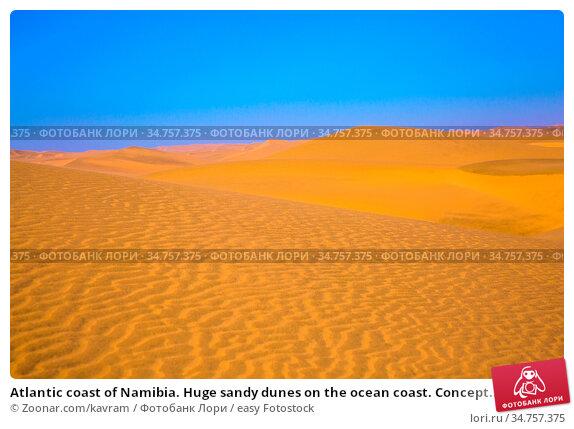Atlantic coast of Namibia. Huge sandy dunes on the ocean coast. Concept... Стоковое фото, фотограф Zoonar.com/kavram / easy Fotostock / Фотобанк Лори