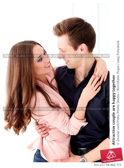 Attractive couple are happy together. Стоковое фото, фотограф Zoonar.com/Yeko Photo Studio / easy Fotostock / Фотобанк Лори