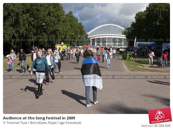 Купить «Audience at the Song Festival in 2009», фото № 30769539, снято 25 мая 2019 г. (c) age Fotostock / Фотобанк Лори