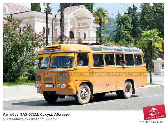 Купить «Автобус ПАЗ-672М, Сухум, Абхазия», фото № 5671359, снято 23 июля 2009 г. (c) Art Konovalov / Фотобанк Лори