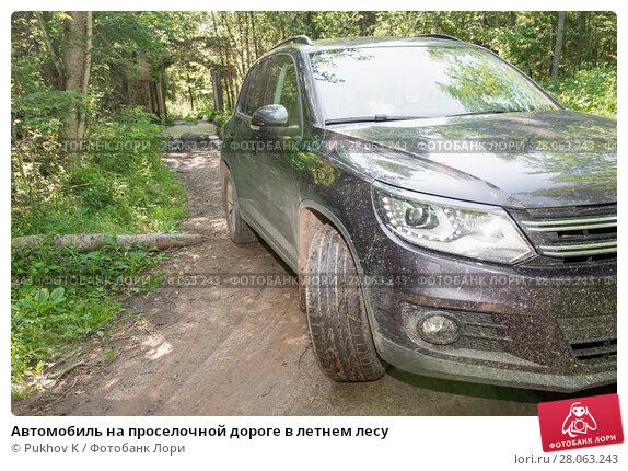 Купить «Автомобиль на проселочной дороге в летнем лесу», фото № 28063243, снято 10 августа 2017 г. (c) Pukhov K / Фотобанк Лори