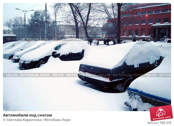 Купить «Автомобили под снегом», фото № 185315, снято 24 января 2008 г. (c) Светлана Кириллова / Фотобанк Лори