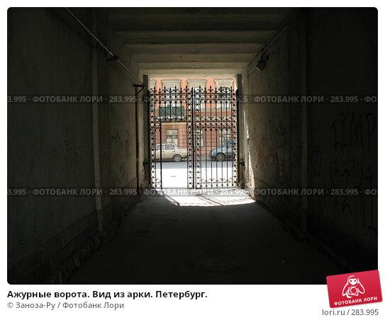 Ажурные ворота. Вид из арки. Петербург., фото № 283995, снято 11 мая 2008 г. (c) Заноза-Ру / Фотобанк Лори