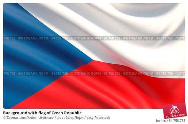 Background with flag of Czech Republic. Стоковое фото, фотограф Zoonar.com/Anton Litvintsev / easy Fotostock / Фотобанк Лори