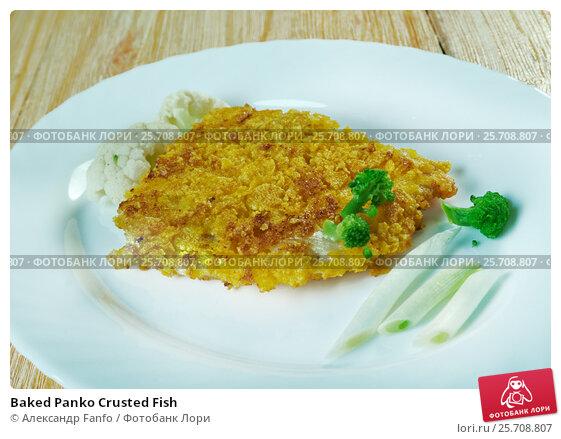 Купить «Baked Panko Crusted Fish», фото № 25708807, снято 22 февраля 2017 г. (c) Александр Fanfo / Фотобанк Лори