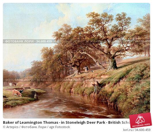 Baker of Leamington Thomas - in Stoneleigh Deer Park - British School... Стоковое фото, фотограф Artepics / age Fotostock / Фотобанк Лори
