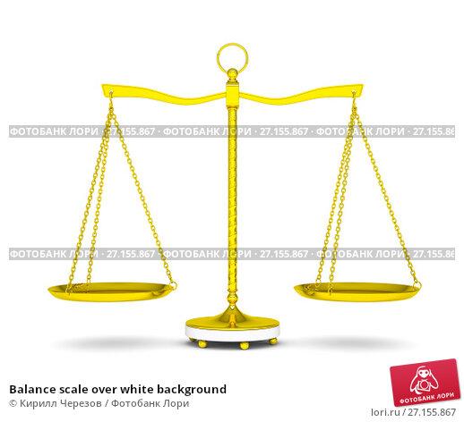 Купить «Balance scale over white background», иллюстрация № 27155867 (c) Кирилл Черезов / Фотобанк Лори