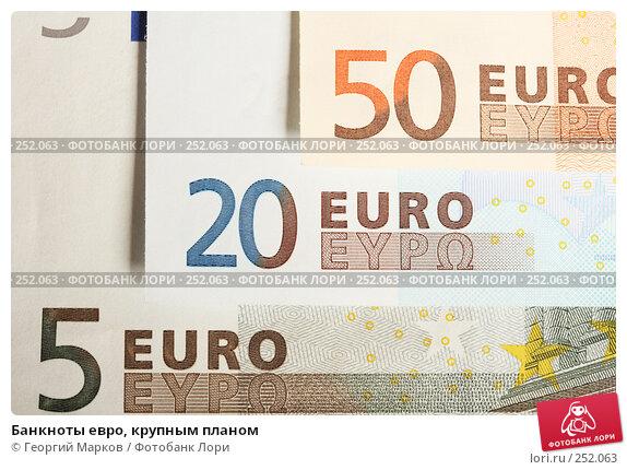 Банкноты евро, крупным планом, фото № 252063, снято 14 апреля 2008 г. (c) Георгий Марков / Фотобанк Лори