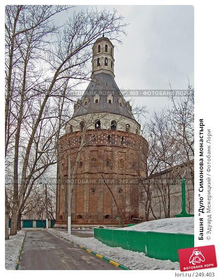"Башня ""Дуло"" Симонова монастыря, фото № 249403, снято 12 февраля 2008 г. (c) Эдуард Межерицкий / Фотобанк Лори"