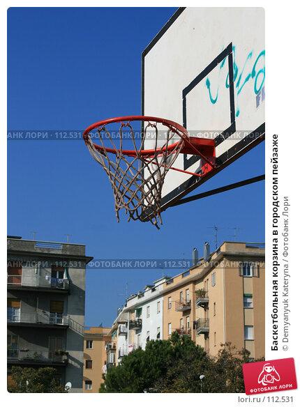 Баскетбольная корзина в городском пейзаже, фото № 112531, снято 8 ноября 2007 г. (c) Demyanyuk Kateryna / Фотобанк Лори