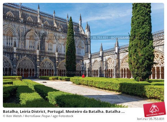Batalha, Leiria District, Portugal. Mosteiro da Batalha. Batalha ... Стоковое фото, фотограф Ken Welsh / age Fotostock / Фотобанк Лори