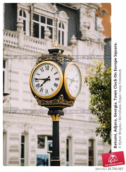 Купить «Batumi, Adjara, Georgia. Town Clock On Europe Square.», фото № 28700087, снято 27 мая 2016 г. (c) easy Fotostock / Фотобанк Лори