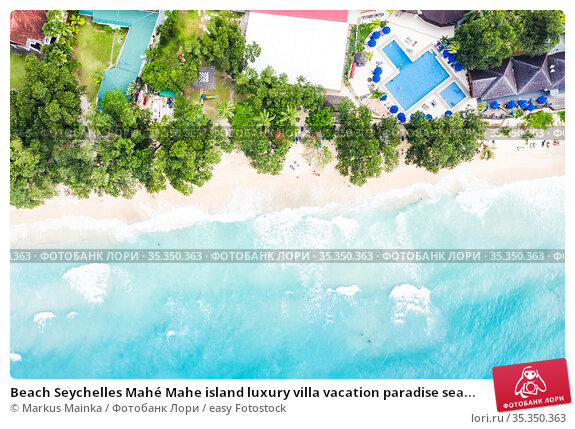 Beach Seychelles Mahé Mahe island luxury villa vacation paradise sea... Стоковое фото, фотограф Markus Mainka / easy Fotostock / Фотобанк Лори