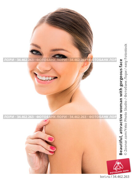 Beautiful, attractive woman with gorgeous face. Стоковое фото, фотограф Zoonar.com/Yeko Photo Studio / easy Fotostock / Фотобанк Лори