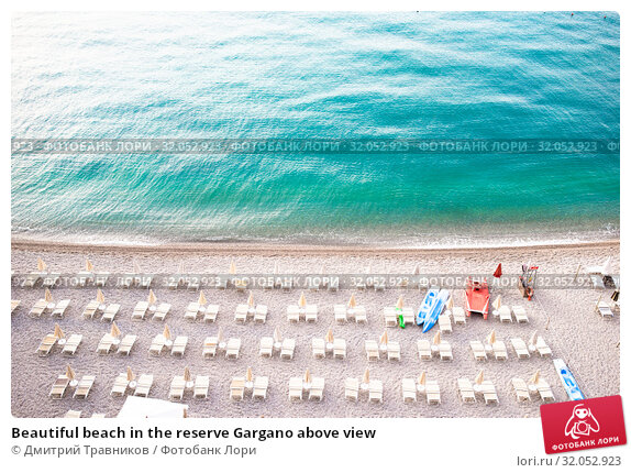 Beautiful beach in the reserve Gargano above view. Стоковое фото, фотограф Дмитрий Травников / Фотобанк Лори