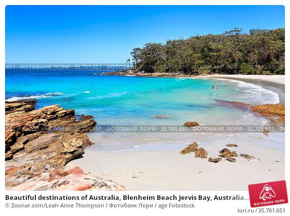 Beautiful destinations of Australia, Blenheim Beach Jervis Bay, Australia... Стоковое фото, фотограф Zoonar.com/Leah-Anne Thompson / age Fotostock / Фотобанк Лори