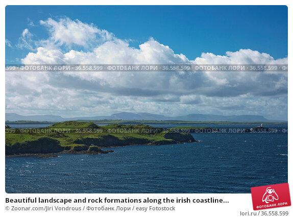 Beautiful landscape and rock formations along the irish coastline... Стоковое фото, фотограф Zoonar.com/Jiri Vondrous / easy Fotostock / Фотобанк Лори