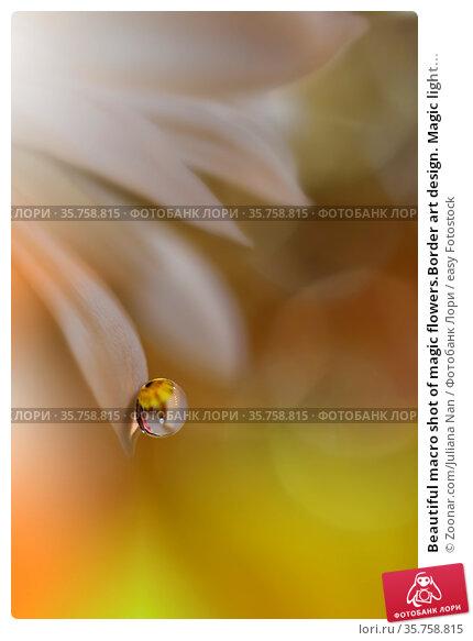 Beautiful macro shot of magic flowers.Border art design. Magic light... Стоковое фото, фотограф Zoonar.com/Juliana Nan / easy Fotostock / Фотобанк Лори