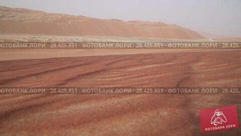 Купить «Beautiful multi-colored dunes in Rub al Khali desert United Arab Emirates stock footage video», видеоролик № 28425851, снято 14 мая 2018 г. (c) Юлия Машкова / Фотобанк Лори