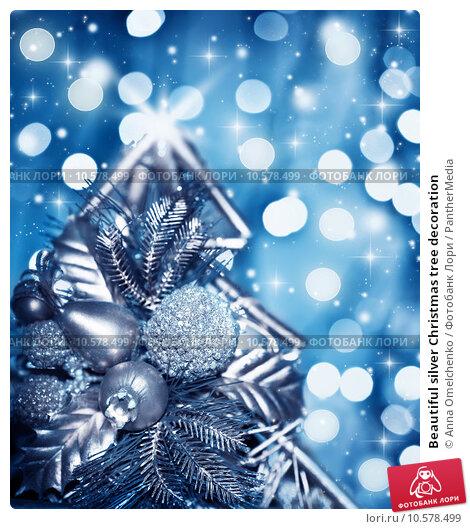 Купить «Beautiful silver Christmas tree decoration», фото № 10578499, снято 14 декабря 2018 г. (c) PantherMedia / Фотобанк Лори