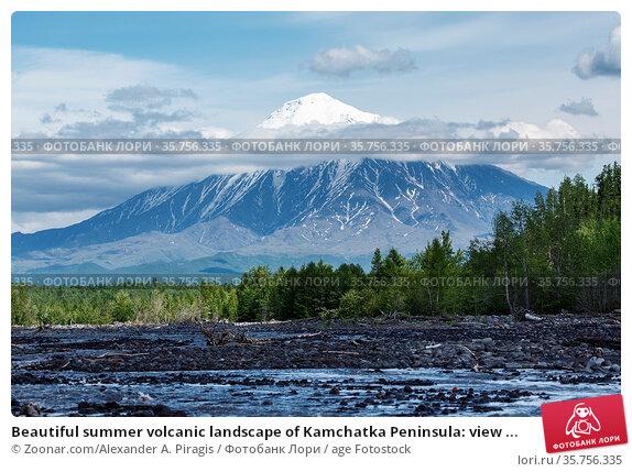 Beautiful summer volcanic landscape of Kamchatka Peninsula: view ... Стоковое фото, фотограф Zoonar.com/Alexander A. Piragis / age Fotostock / Фотобанк Лори