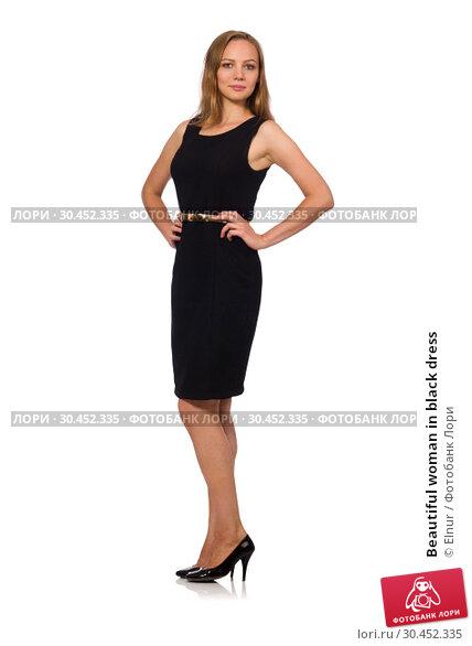 Beautiful woman in black dress. Стоковое фото, фотограф Elnur / Фотобанк Лори