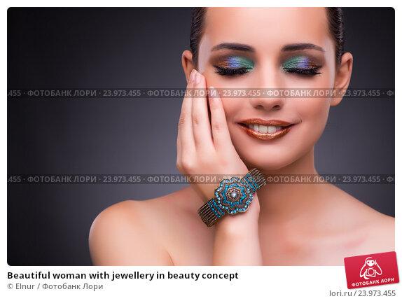 Купить «Beautiful woman with jewellery in beauty concept», фото № 23973455, снято 17 августа 2016 г. (c) Elnur / Фотобанк Лори