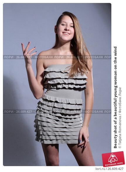 Купить «Beauty shot of a beautiful young woman on the wind», фото № 26609427, снято 27 января 2012 г. (c) Tatjana Romanova / Фотобанк Лори