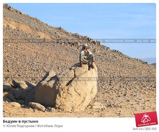 Бедуин в пустыне, фото № 203103, снято 1 марта 2005 г. (c) Юлия Селезнева / Фотобанк Лори