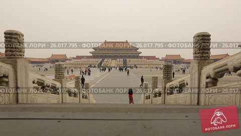 Купить «Beijing. The Palace Museum, Forbidden city», видеоролик № 26017795, снято 3 апреля 2017 г. (c) Яна Королёва / Фотобанк Лори