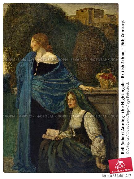 Bell Robert Anning - the Nightingale - British School - 19th Century. Стоковое фото, фотограф Artepics / age Fotostock / Фотобанк Лори