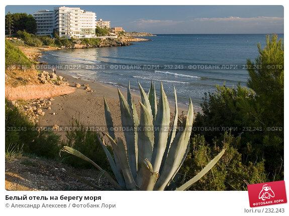 Белый отель на берегу моря, эксклюзивное фото № 232243, снято 23 сентября 2005 г. (c) Александр Алексеев / Фотобанк Лори