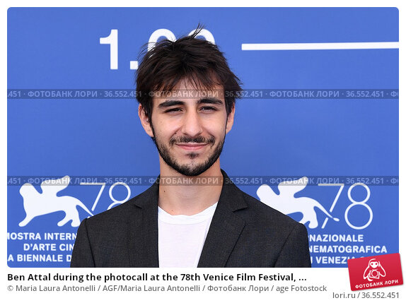 Ben Attal during the photocall at the 78th Venice Film Festival, ... Редакционное фото, фотограф Maria Laura Antonelli / AGF/Maria Laura Antonelli / age Fotostock / Фотобанк Лори