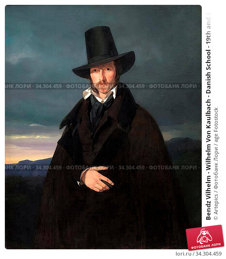 Bendz Vilhelm - Wilhelm Von Kaulbach - Danish School - 19th and Early 20th Century. Редакционное фото, фотограф Artepics / age Fotostock / Фотобанк Лори