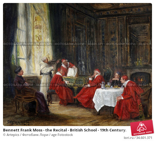 Bennett Frank Moss - the Recital - British School - 19th Century. Стоковое фото, фотограф Artepics / age Fotostock / Фотобанк Лори