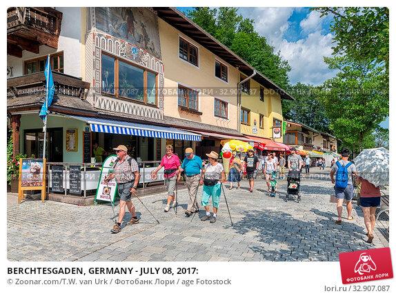 BERCHTESGADEN, GERMANY - JULY 08, 2017: Стоковое фото, фотограф Zoonar.com/T.W. van Urk / age Fotostock / Фотобанк Лори