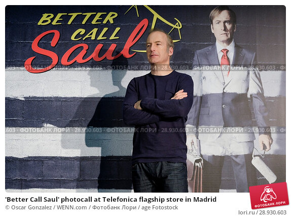 Купить «'Better Call Saul' photocall at Telefonica flagship store in Madrid Featuring: Bob Odenkirk Where: Madrid, Spain When: 18 Apr 2017 Credit: Oscar Gonzalez/WENN.com», фото № 28930603, снято 18 апреля 2017 г. (c) age Fotostock / Фотобанк Лори