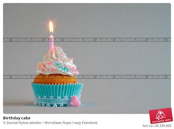 Birthday cake, фото № 26335063, снято 26 мая 2017 г. (c) easy Fotostock / Фотобанк Лори