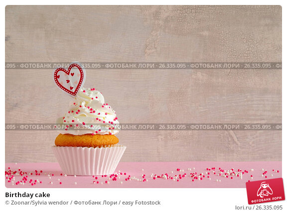 Купить «Birthday cake», фото № 26335095, снято 20 февраля 2018 г. (c) easy Fotostock / Фотобанк Лори