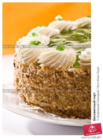 Купить «Бисквитный торт», фото № 228447, снято 5 сентября 2005 г. (c) Кравецкий Геннадий / Фотобанк Лори