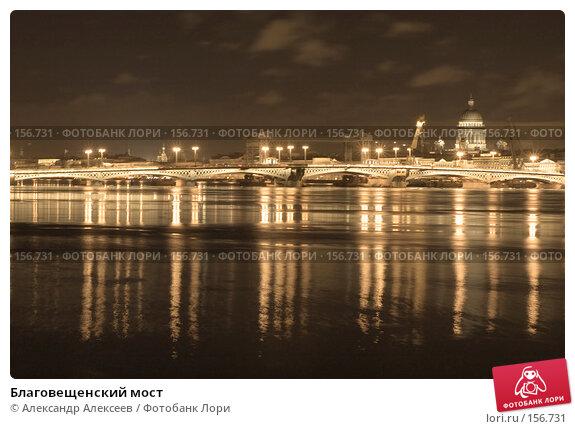 Благовещенский мост, эксклюзивное фото № 156731, снято 12 декабря 2007 г. (c) Александр Алексеев / Фотобанк Лори