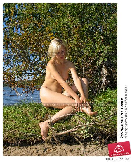 Блондинка на траве, фото № 138167, снято 18 сентября 2005 г. (c) Serg Zastavkin / Фотобанк Лори