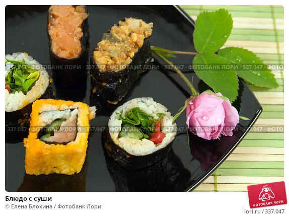 Блюдо с суши, фото № 337047, снято 24 июня 2008 г. (c) Елена Блохина / Фотобанк Лори