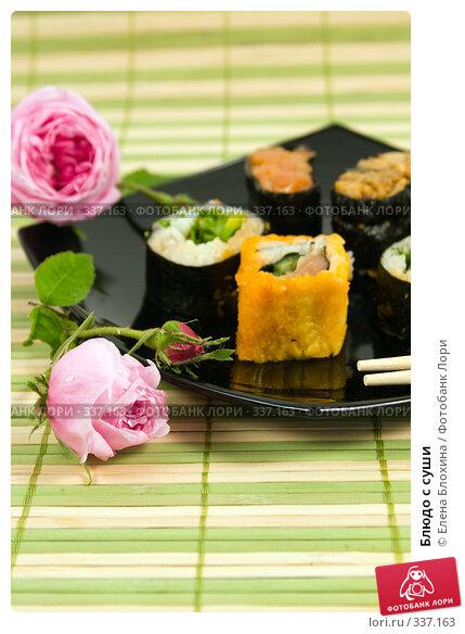Купить «Блюдо с суши», фото № 337163, снято 24 июня 2008 г. (c) Елена Блохина / Фотобанк Лори