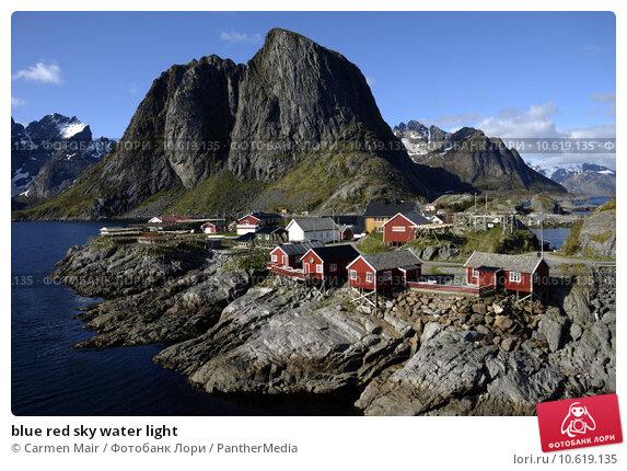 blue red sky water light. Стоковое фото, фотограф Carmen Mair / PantherMedia / Фотобанк Лори