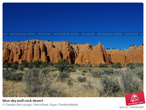 blue sky wall rock desert. Стоковое фото, фотограф Claudio Del Luongo / PantherMedia / Фотобанк Лори