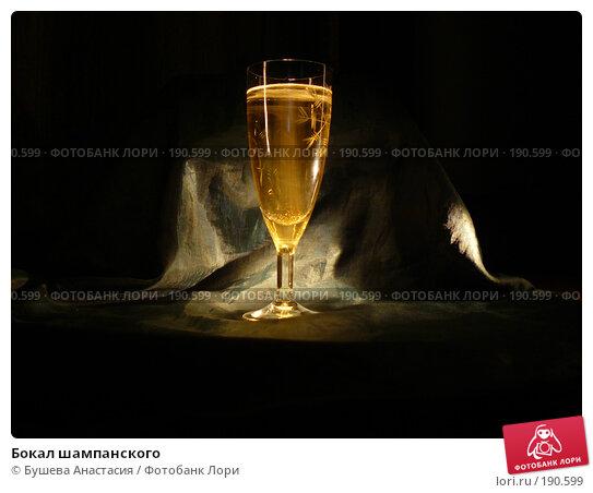 Бокал шампанского, фото № 190599, снято 9 ноября 2007 г. (c) Бушева Анастасия / Фотобанк Лори