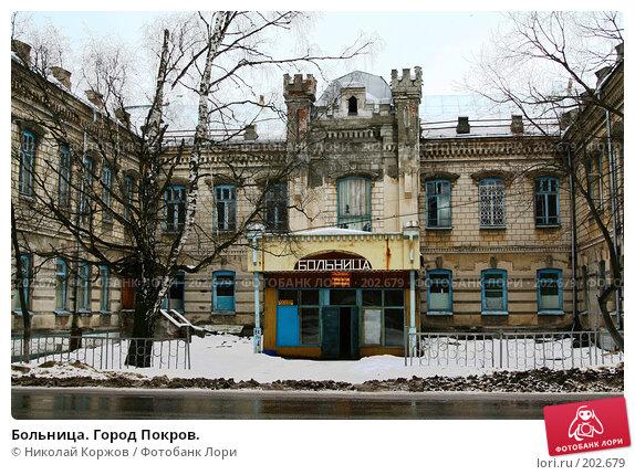Больница. Город Покров., фото № 202679, снято 10 февраля 2008 г. (c) Николай Коржов / Фотобанк Лори